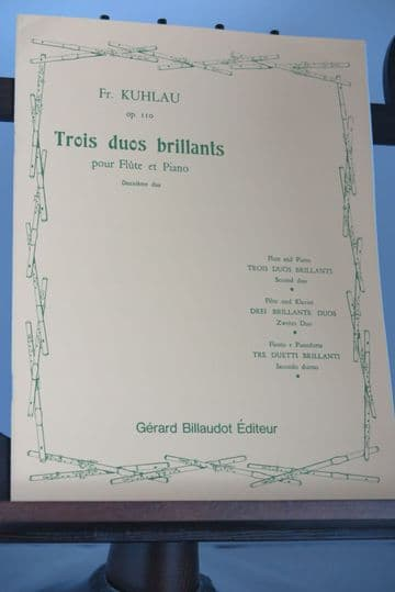 Kuhlau F - Duo No 2 from Trios Duos Brillants Op 100 No 2 for Flute & Piano